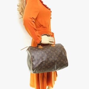 Auth Louis Vuitton Speedy 30 Boston Bag #2074L13